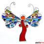 wilder Engel Tiffany Fensterbild