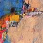 『 機械的判断に準じない 』2009          色鉛筆、鉛筆 / 紙     (250mm × 450mm)