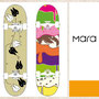 Lena Felzmann, Corporate Design und Illustration Buchladen, Skateboards und vegetarisches Lokal