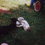 Mit Kumpel Felix beim Spielen
