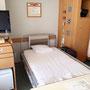 常宿の病室のベッド