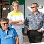 Rolf Bebensee, Christian Ebert und Wasyl Gläser
