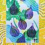fruits d'été, gravure sur vynil, 4 couleurs, 8 expl.
