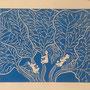 algues bleues, linogravure, 10 expl.