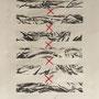 fabrik - pleats II, collagraphie & cotton, 6 expl