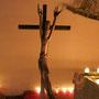 Jesus am Kreuz und Auferstehung