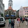 Meißen - Frauenkirche mit Glockenspiel