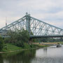 """Die """"Blaue Wunder"""" Brücke(ursprüngl. Farbe hat sich durch UV-Bestrahlung verändert)"""