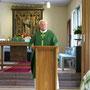 Sonntagsmesse mit P. Erwin im Pfarrhaus