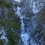 1月 凍結した不動の滝 長野原町
