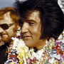 Elvis Presley arrives in Hawaii for his televised concert, 1973.