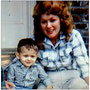 Patsy Cline and son Randy (1962). Patsy was quite fond of her blonde wig.