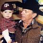 George Strait with his grandson, Harvey.