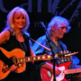 Emmylou Harris and Albert Lee during a live performance of his 70th birthday celebration event