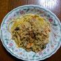 サーモンクリームスパゲティ
