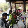 下山後、麓のキャンプ場にて、豚汁を食べ、おいしかった!