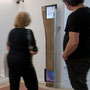 Eau feu 2, planche de bois , montant métallique, écrans vidéo, son, 150x40x20cm, 2013