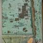 Photodécoupe 1,  portes anciennes dépeintes et découpées au format A4,  images photographiques, 190x140x9cm, 2007.