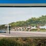 Transformateur EDF, RD 900 Perpignan Nord, impression numérique sur film adhésif et alu composite (face ouest)