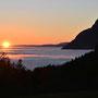 Sonnenuntergang Richtung Balmfluhchöpfli von der Wüestrütti aus fotografiert