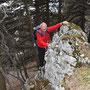 mit Kletterausbildung steigt man da locker hoch