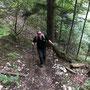 Alex kämpft sich den Berg hoch