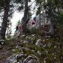 am Fusse der Kletterpartie