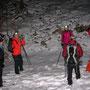Kurze Pause vor dem steilen Rüttelhorn Aufstieg