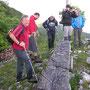 Abstiegshalt beim Känzeli unterhalb dem Hellchöpfli am Donnerstag 27. Juni 2013