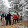 Aufstieg auf die Stallfluh, nach starker Bise auf der Küefferegg