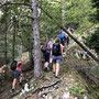 Einstieg auf den Grat