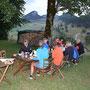 Nachtessen mit Rüttelhorn im Hintergrund
