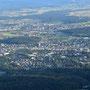 klarer Blick hinunter nach Solothurn