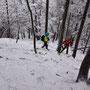 Auch die Abstiegsbedingungen in den Horngraben sind nur noch für Trittsichere