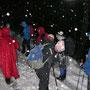 Es schneit in grossen Flocken