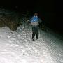 Schattseitig hat es noch grössere Schneefelder