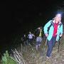 Aufstieg am Zwischenberg an der Donnerstagswanderung vom 4. November 2010