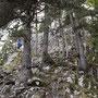 Die zwei Bergsteiger verabschieden sich in die Kraxelfelsen