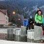 Gut gelaunte Wanderfreunde beim Start in Reuchenette Péry um 8.30 Uhr