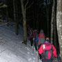 Nordseitig liegen auf dem Schattenberg 20cm Neuschnee