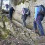 Die gfürchige Aufstiegspassage auf der Ostseite vom Gwidem