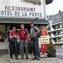 Start am Samstag Morgen zur achten und letzten Tagesetappe in St. Cergue
