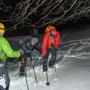 Besonderes Hindernis für Schneeschuhwanderer