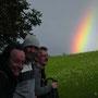 Ein prächtiger Regenbogen auf dem Weissenstein am Donnerstag, 14. August 2014