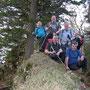 Gruppenfoto am höchsten Punkt der Geissfluh