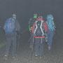 Schön isch's gsi! Abmarsch in den stockdicken Nebel