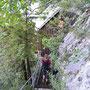 Die letzten paar Meter des Hüttenzustiegs