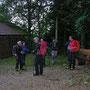 Kleine Pause bei der Waldhütte