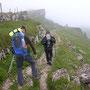 Abstieg im Nebel vom Chasseral Richtung Combe Biosse und Vue des Alpes