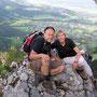 Auf dem Ostgrat an der Donnerstagswanderung vom 30. Juli 2009